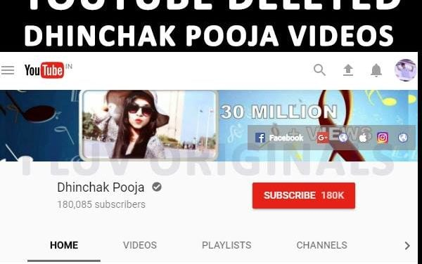 DHINCHAK POOJA'S BLOT OUT FROM YOUTUBE